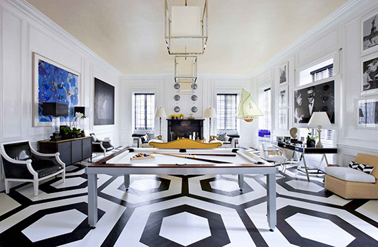Eric Cohler Design_INSTALLATIONS-SUSAN-G-KOMEN-1-black and white floor