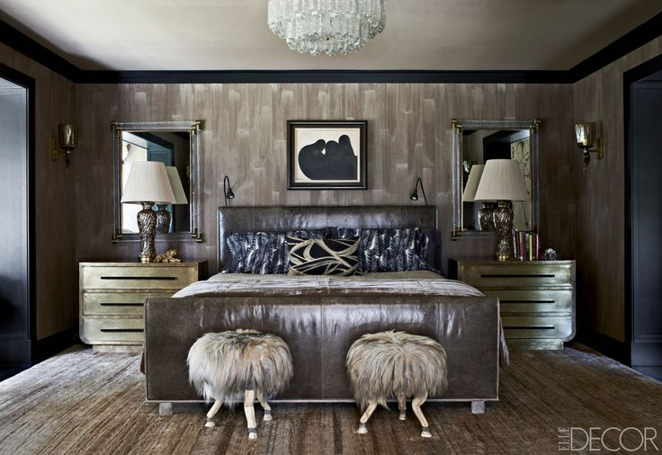 Luxury Bedroom Ideas - Interior design by Kelly Wearstler - Top interior designers - art deco - glamorous bedrooms - luxury beds