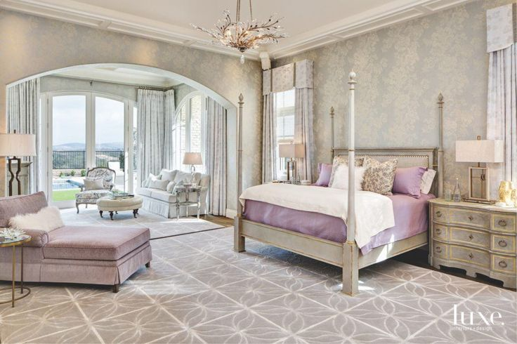 Luxury bedroom ideas - Interior design Susan Spath, Kern & Co. - Jim Brady Photography - Century luxury bed - glamorous bedrooms