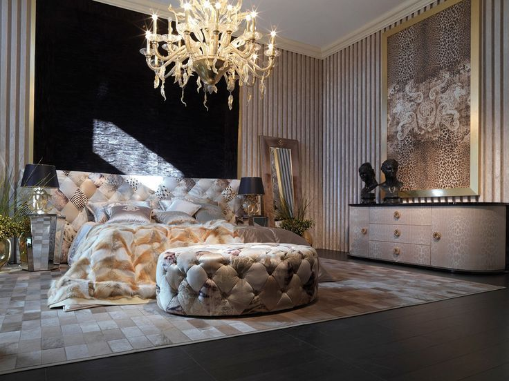 Luxury bedroom ideas  Roberto Cavalli Home luxury beds furniture glamorous 10 Bedroom Ideas Stunning Beds in Glamorous Bedrooms