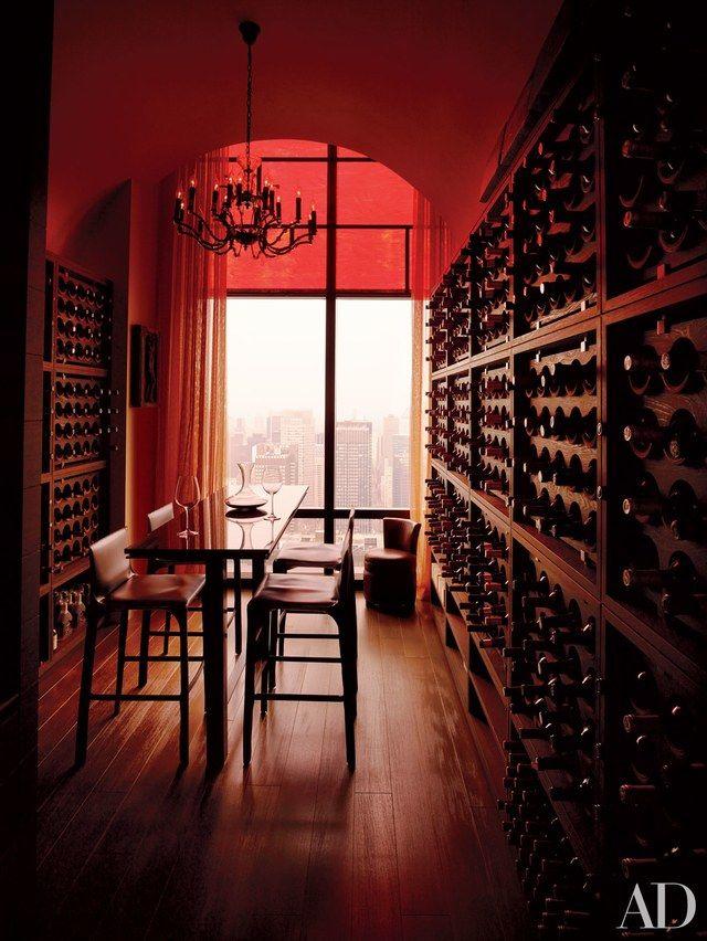 Manhattan duplex wine room by ODA-Architecture
