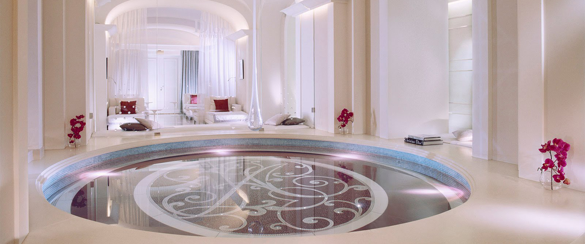 Relaxation and rejuvenation meet haute couture at a paris spa for Hotel design paris spa