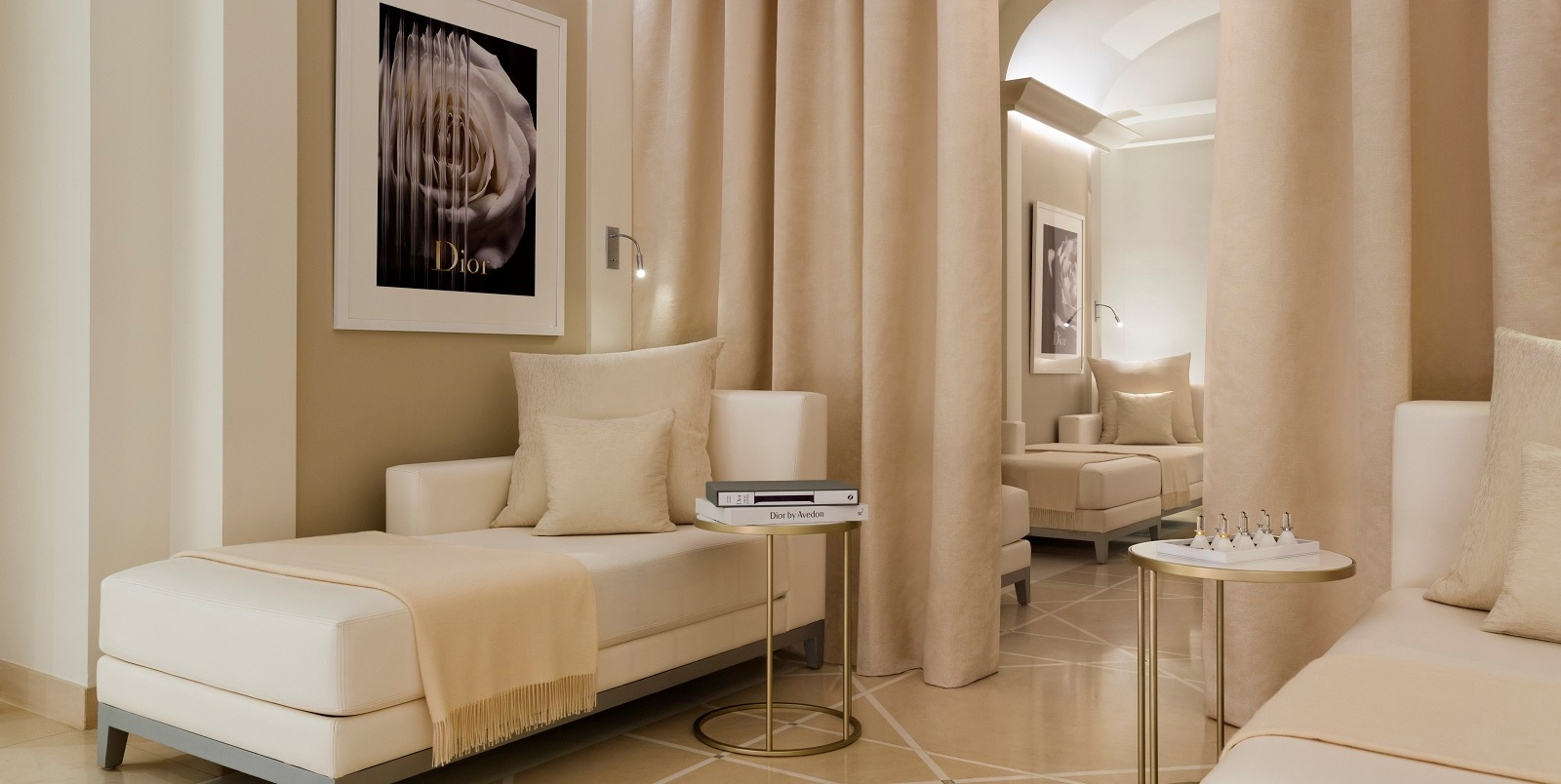 Relaxation and Rejuvenation Meet Haute Couture at a Paris Spa - Dior Institut - Hotel Plaza Athenee - Lounge Area - Glamorous Spa Design