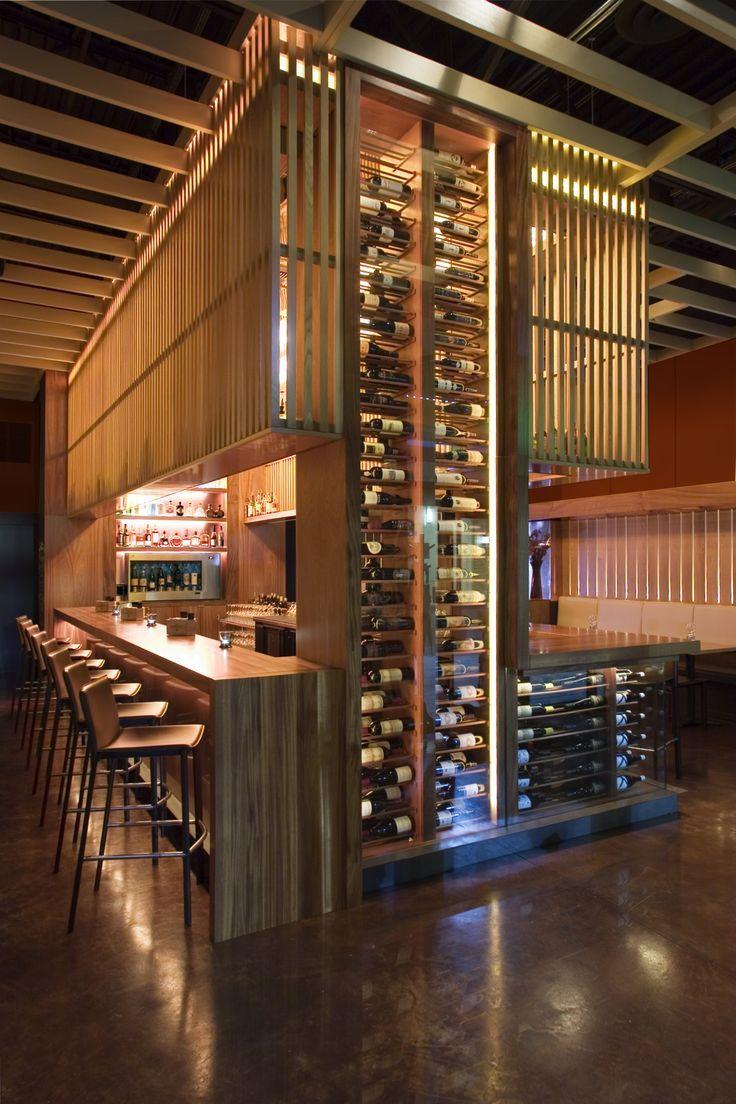 13 wine room design inspirations love happens blog for Modern wine bar design