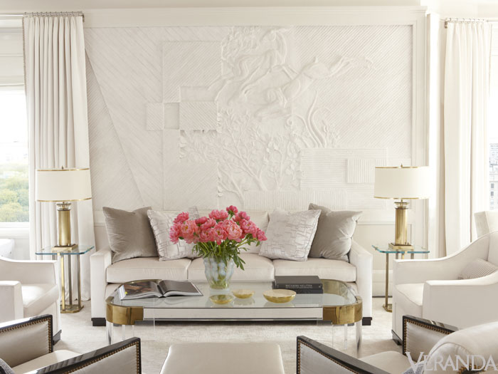 Top NYC Interior Designers - Victoria Hagan - white living room - neutral living room - art deco - luxury furniture