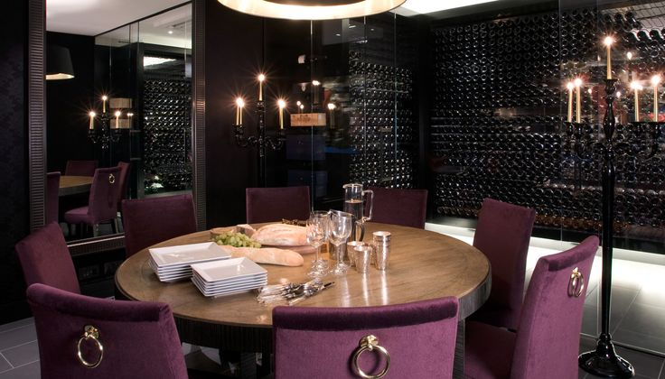 Wine Room Design - Wine Cellar Design by Smith & Taylor and Taylor Howes Interior Design - purple wine room