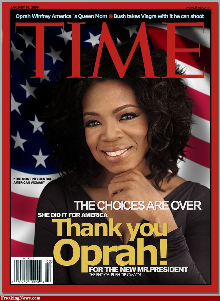 Women Empowerment - Oprah Winfrey Time Magazine Cover - Most Influential American Woman