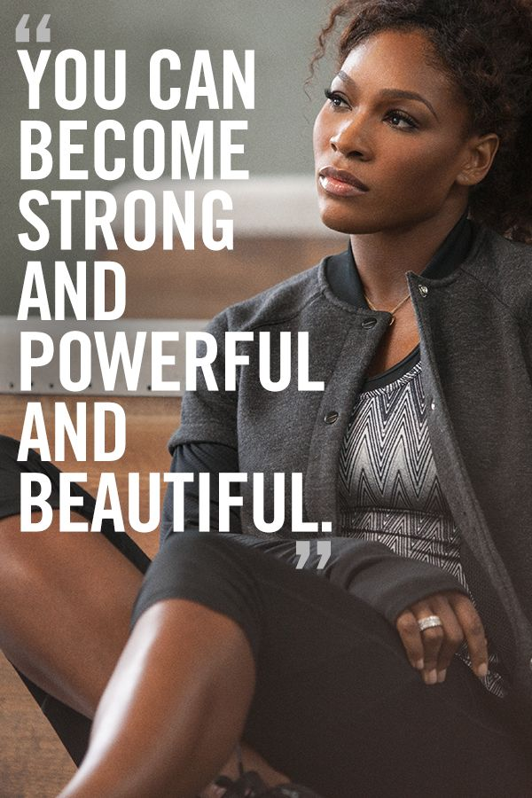 Women Empowerment - Black Women's Equal Pay Day: Serena Williams, Quote: You can become strong and powerful and beautiful. black women's equal pay day Women Empowerment: Serena Williams and Black Women's Equal Pay Day f277c75e1100ed3667c1cd772fe83583 nike shoes mens shoes
