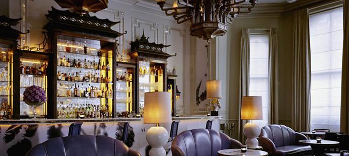 Best Restaurants in London - Top London Hotels - The Langham Hotel - Artesian bar - luxury furniture - ice - pagoda bar - luxury furniture