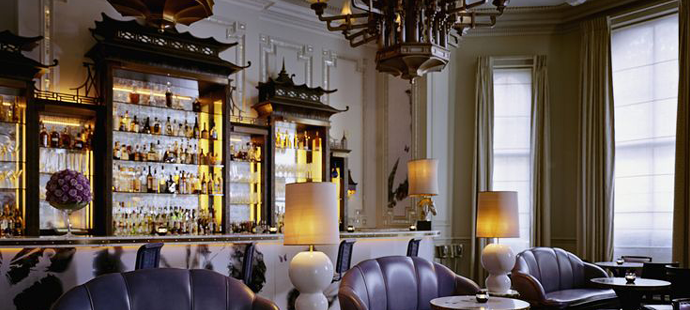 Best Restaurants in London - Top London Hotels - The Langham Hotel - Artesian bar - luxury furniture - ice - pagoda bar - luxury furniture