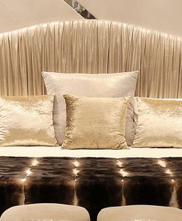 Luxury Bedroom Ideas - Plisse Bed by KOKET - Luxury beds - leather bed - top designs from isaloni 2017