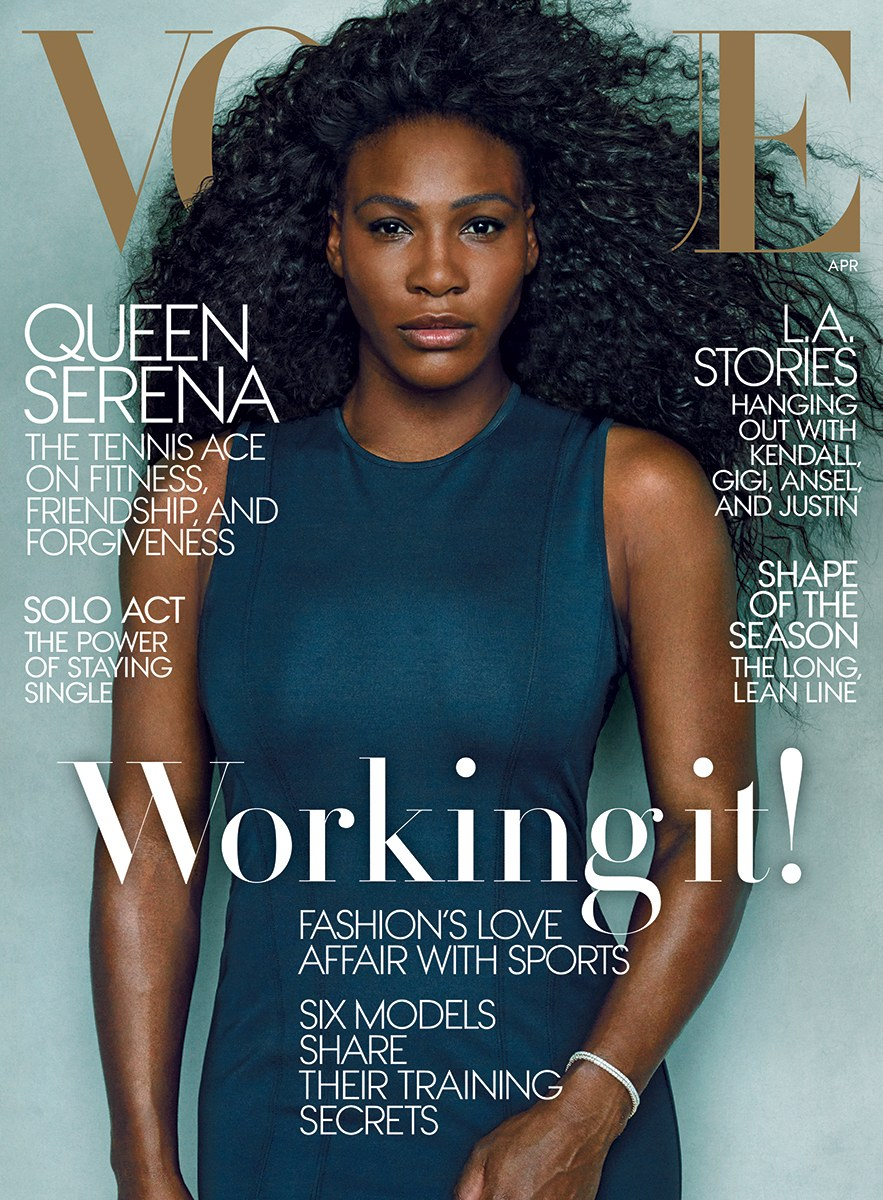 Women Empowerment - Black Women's Equal Pay Day: Serena Williams Fashion - April 2015 Cover Vogue black women's equal pay day Women Empowerment: Serena Williams and Black Women's Equal Pay Day serena williams april 2015 cover vogue
