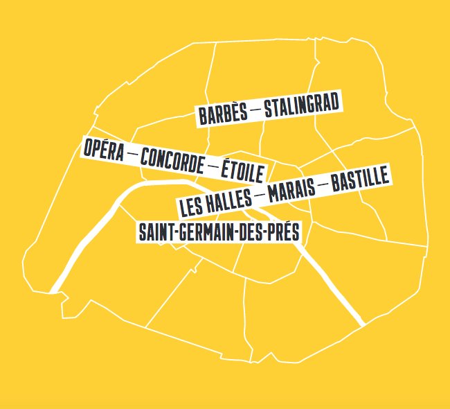 Map of Paris Districts - Top Events During Design Week