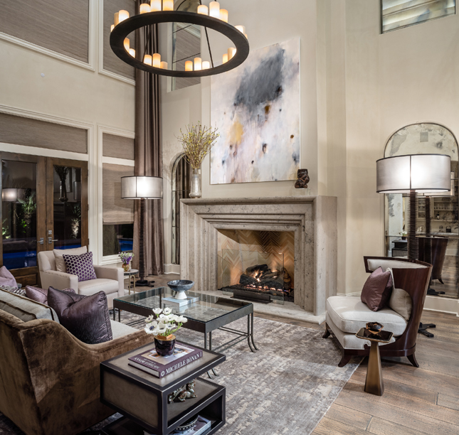 Jonas Brothers Texas Home Stunning Rustic Living Room: Top Interior Designers: Bankston May Associates
