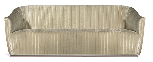 Mia Sofa by KOKET - ribbed upholstered sofa - luxury furniture - cream sofa