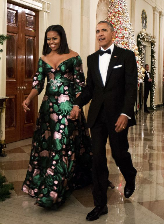 Women Empowerment: Michelle Obama Education - Michelle Obama and Barack Obama - style icon - obamas christmas party
