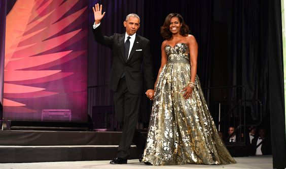 Women Empowerment: Michelle Obama Education and President Barack Obama WASHINGTON, DC - SEPTEMBER 17: (L-R) President Barack Obama and Michelle Obama arrive at the Phoenix Awards Dinner at Walter E. Washington Convention Center on September 17, 2016 in Washington, DC. (Photo by Earl Gibson III/Getty Images)