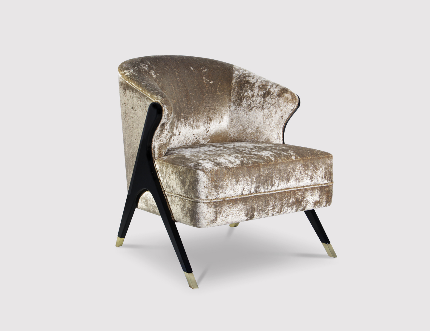Naomi chair by KOKET at Decorex - upholstered lounge chair - luxury furniture - glamorous living room chairs