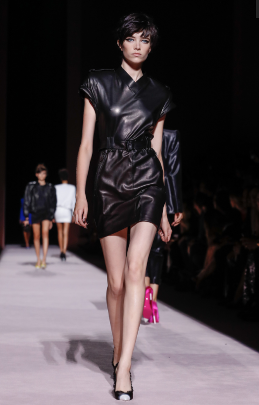New Tom Ford Perfume - New York Fashion Week 2017 - Tom Ford Spring/Summer 2018 - SS18 - Little black leather dress - LBD Tom Ford Fucking Fabulous Tom Ford Fucking Fabulous! SS18