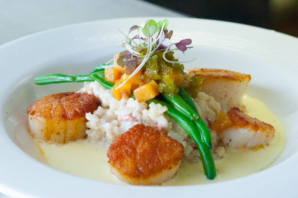 Greensboro Restaurants: Undercurrent Restaurant Seared Scallops - best restaurants in greensboro nc - downtown greensboro restaurants - High Point Market Fall 2017