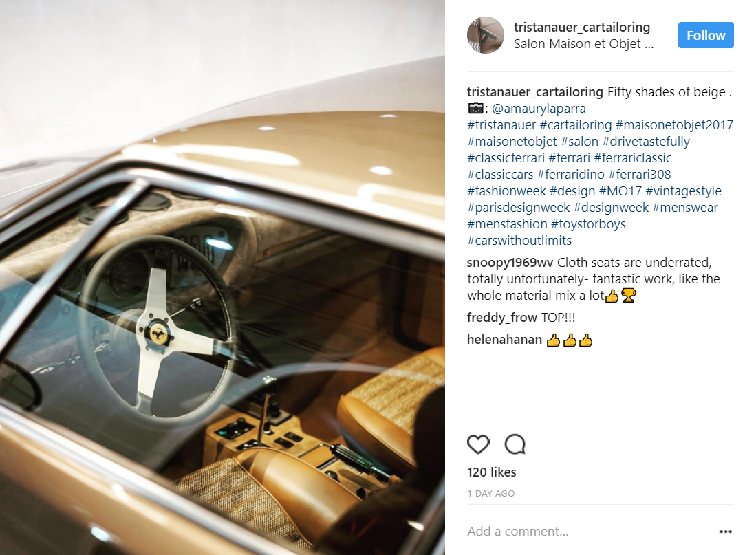 Tristan Auer Car Tailoring Maison & Objet Paris 2017 Designer of the Year, custom Ferrari interior, bespoke car interiors tristan auer Tristan Auer: Maison & Objet 2017 Designer of the Year & Car Tailor Tristan Auer Car Tailoring