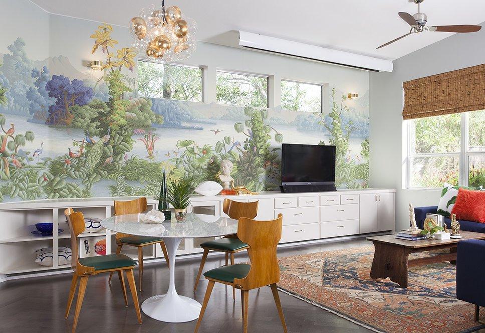 Maureen Stevens Design - Tropical Mid-Century Modern Project - Tropical Wall Mural - Tropical Dining Rooms top interior designers Top Interior Designers: Maureen Stevens Design default name 3