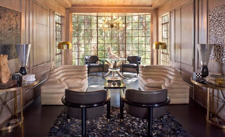 Kelly Wearstler Interior Design - Hillcrest Residence - Luxury interior design ideas - luxury furniture - glamorous living room ideas