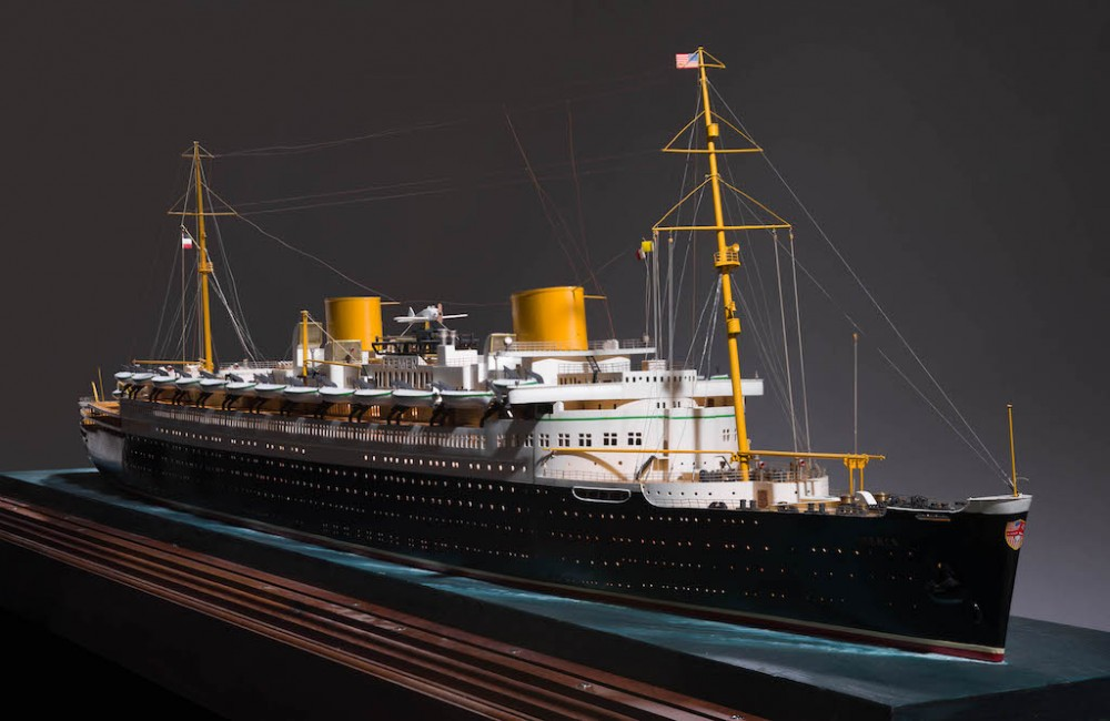 Peabody Essex Museum - Ocean Liners - Glamour, Speed & Style Exhibit - model