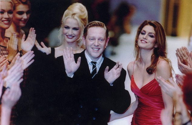 iconic images of Herve Leger - Herve Leger and Cindy Crawford - Fashion icon