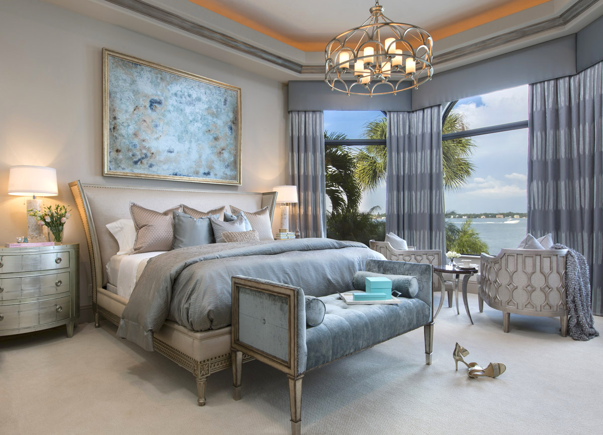 Interior design by Studio M - Michelle Jennings Wiebe - High Point Market 2017 Style Spotters - Bedroom designs - Glamorous bedroom designs - Luxury furniture