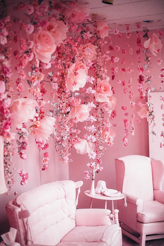 Pink Rooms - In Honor of Breast Cancer Awareness Month - pink girls room ideas - whimsical pink interiors