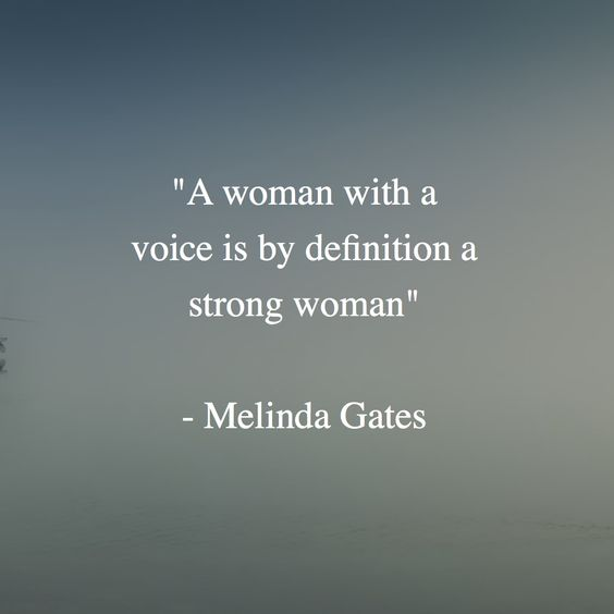 "Women Empowerment - Melinda Gates Quotes - ""A woman with a voice is by definition a strong woman"" women empowerment Women Empowerment: Melinda Gates, The First Lady of Philanthropy 4d71aad7ca6e5e682b2f59916aba3e92"