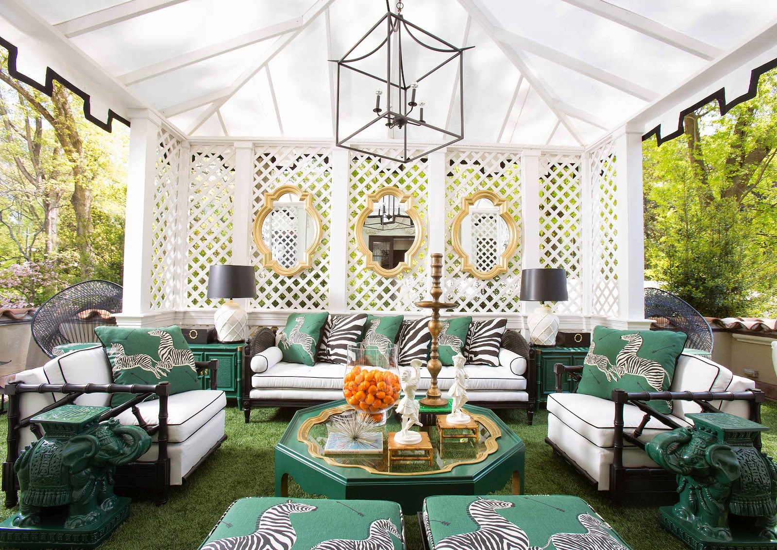 Interior design by Parker Kennedy Living - High Point Market 2017 Style Spotters - Living room designs - chinoiserie interiors