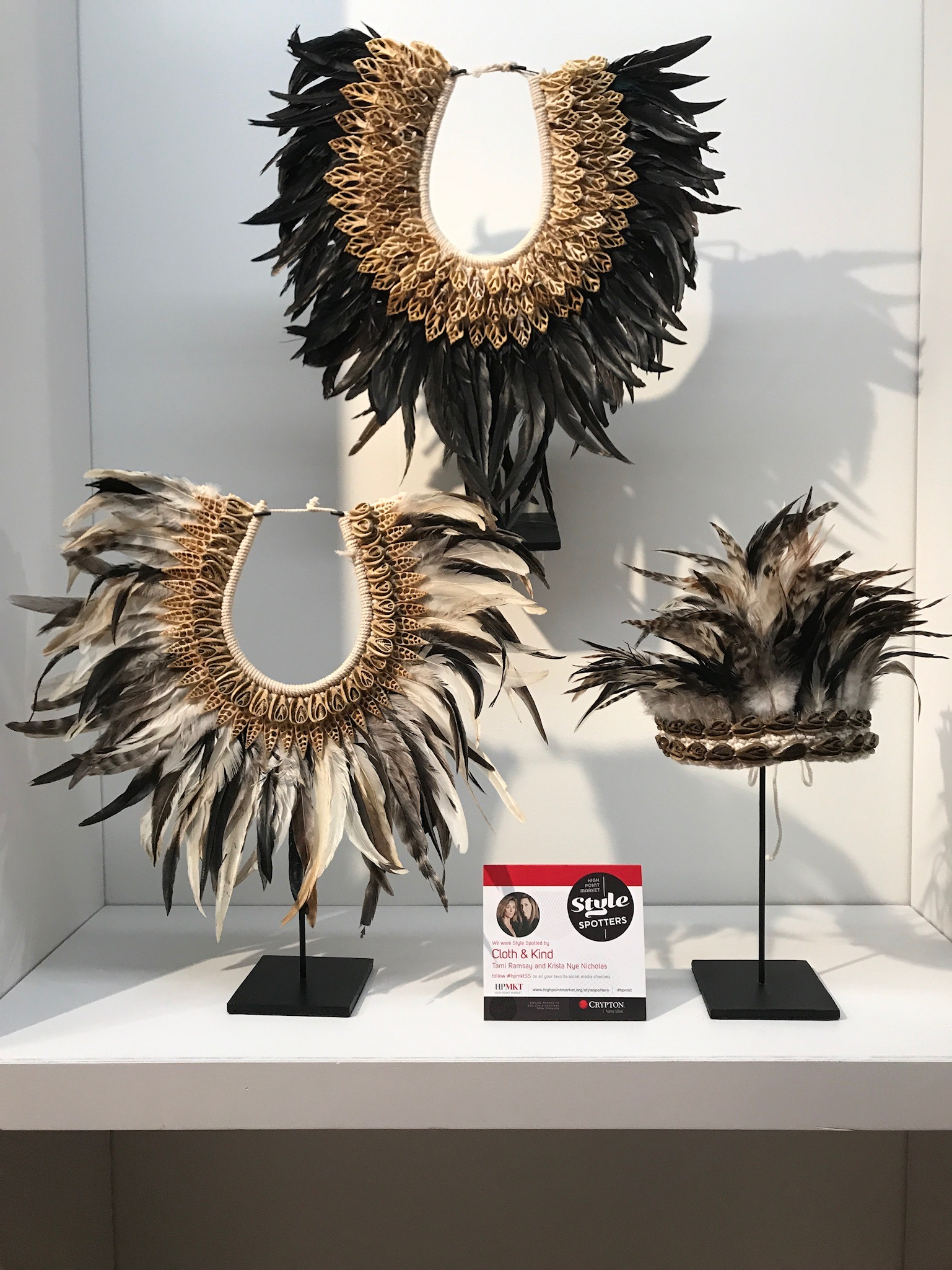 Primary Necklaces & Headdress by Atelier CSD Davoy from Schwung Home USA Inc. - Fall 2017 High Point Market Style Spotters CLOTH & KIND Interiors saved to CLOTH & KIND, Krista Nye Nicholas and Tami Ramsay - Feather trend 2018 - feathers in fashion