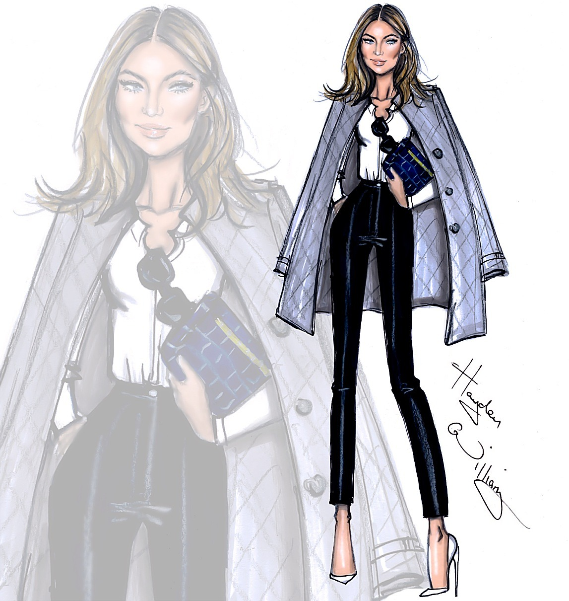 Natalie Massenet - Founder of Net-a-Porter - Women Empowerment - Harper Williams Illustration natalie massenet Women Empowerment: Net-a-Porter Founder Natalie Massenet 69ed40792f26d2dfcdc6fb9401b09f6c
