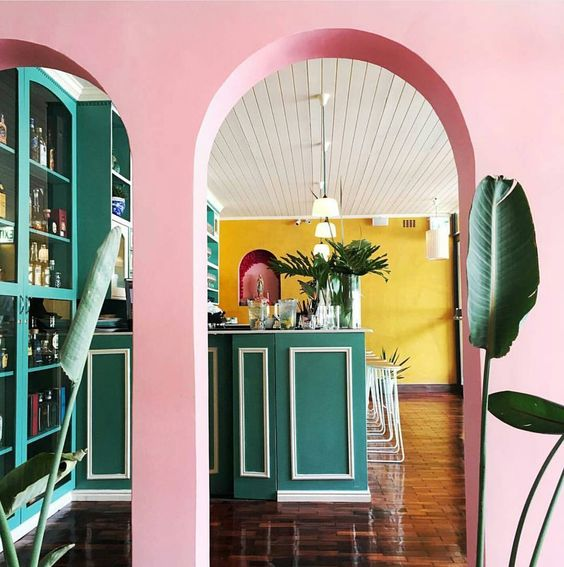 Pink rooms - In Honor of Breast Cancer Awareness Month - El Burro Restaurant in Capetown - pink restaurants - pink room ideas