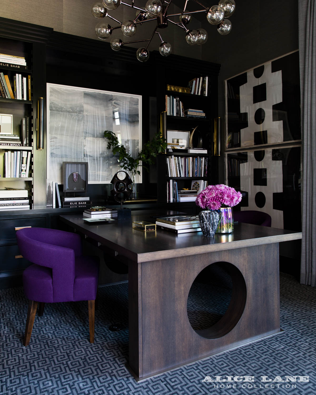 Jessica Bennett and the Alice Lane Home Design Team - home office designs - dramatic home offices