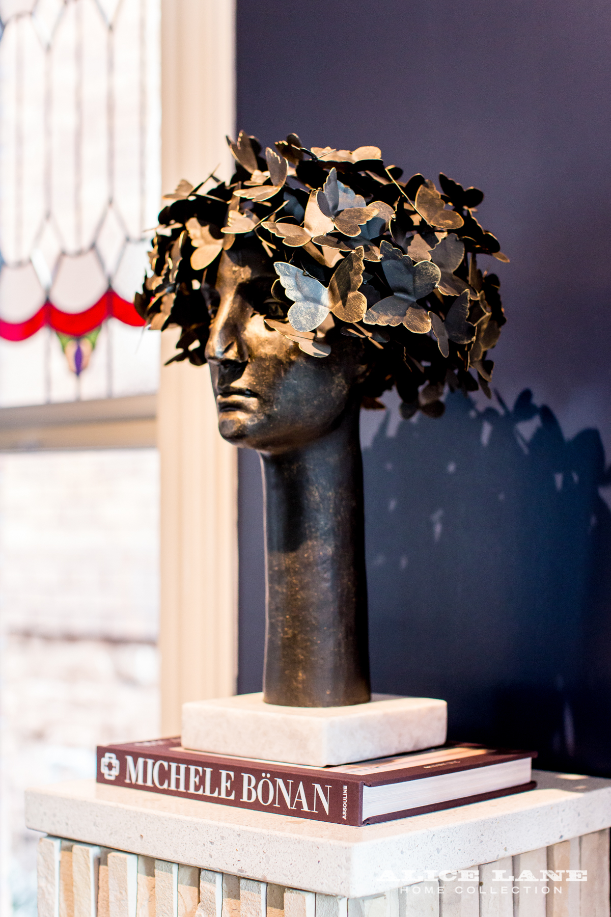Jessica Bennett and the Alice Lane Home Design Team - Alice-Lane-Home_Peterson-Residence - Butterfly head sculpture - home accessories - figurative accessories