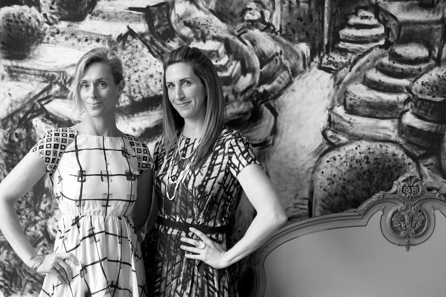 Tami Ramsay and Krista Nye Nicholas of Cloth & Kind - High Point Market 2017 Style Spotters - Top interior designers - Textile queens