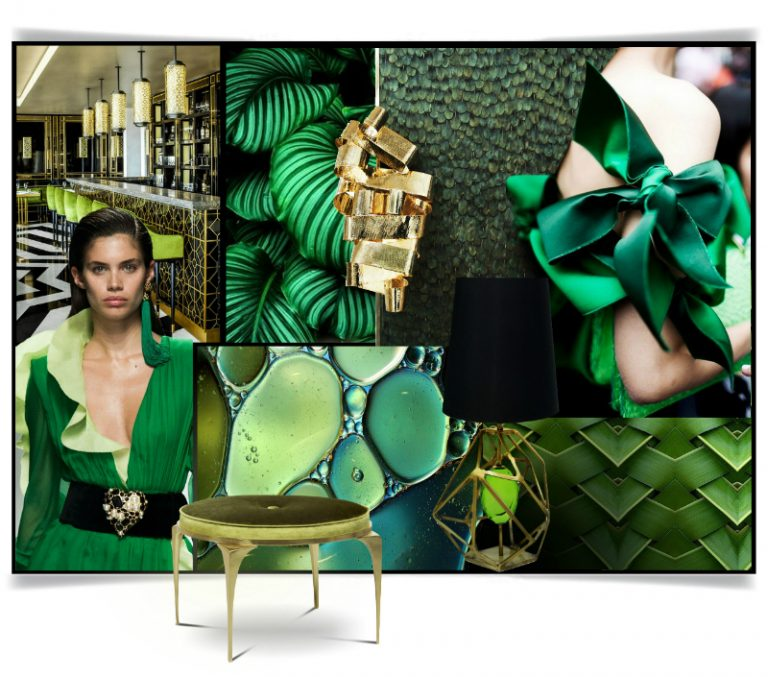 Pantone Color of the Year 2017 - Greenery - Interior design trends 2017 - KOKET - Luxury furniture - Sexy furniture - Fashion furniture - Greenery mood board