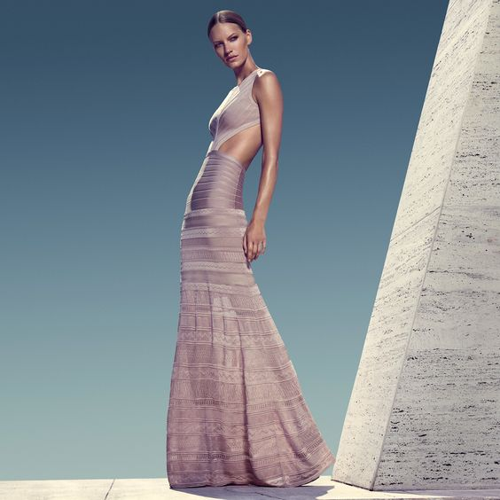 iconic images of Herve Leger by Max Azria Pre-Spring 2016 Runway Collection Ad Campaign - bandage dress