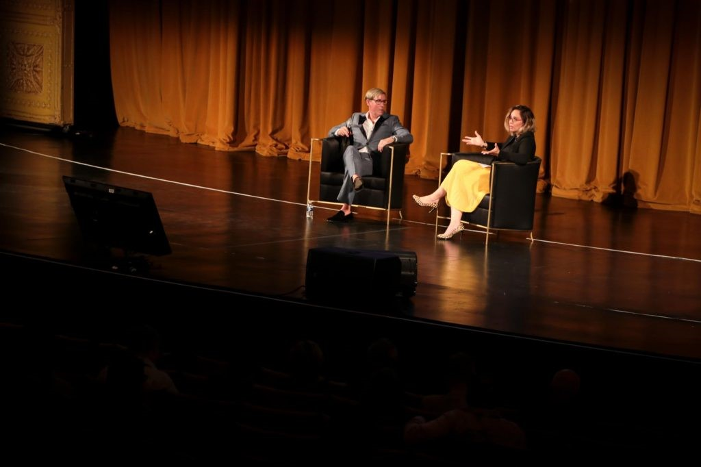 Julia Molloy interviewing Barclay Butera in KOKET Desire chairs. Photography by Yian Quach of House Digital Design. Sexy chair. KOKET Desire Chairs. Luxury furniture.