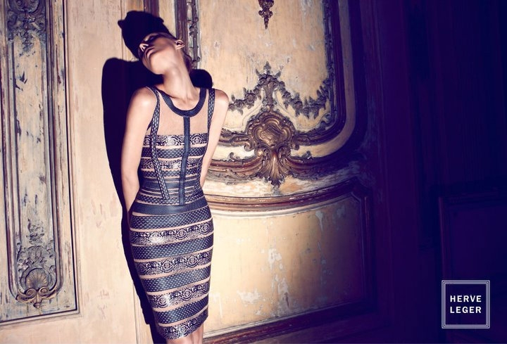 Olga Sherer Herve Leger Spring Summer 2011 collection Ad Campaign bandage dress sexy dresses
