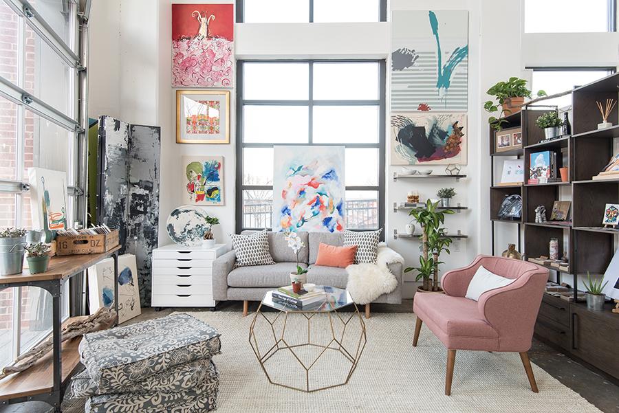 Mariella Cruzado of Splendor Styling - Brookland arts walk art gallery latela - glamorous interior design - luxury living - art gallery design