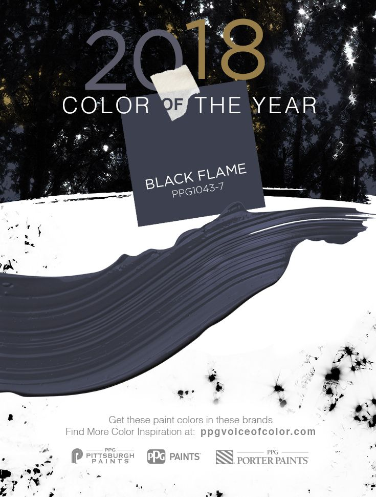 Color of the year 2018 or should we say colors Paint color of the year