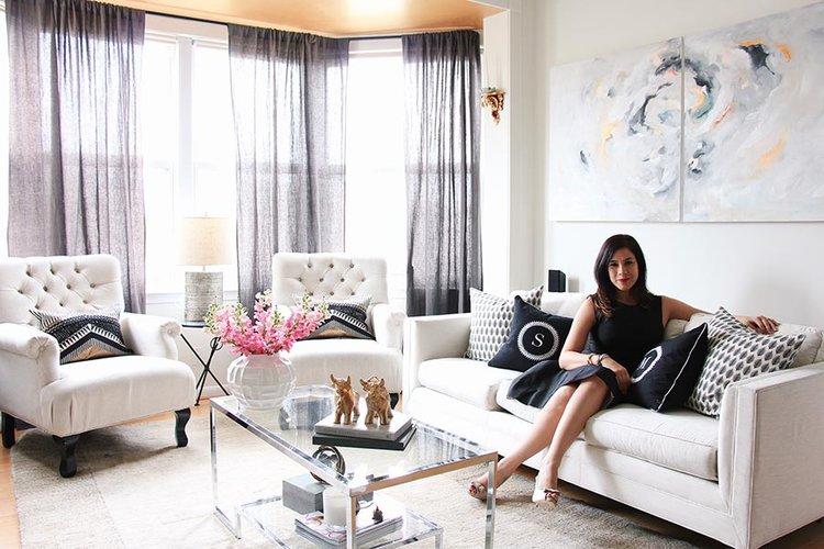 Mariella Cruzado of Splendor Styling - glamorous living rooms - chic interior design - top interior designers in dc - luxury furniture