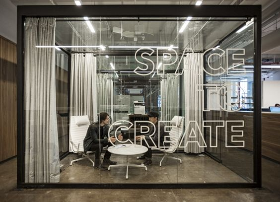 How to Improve Productivity with Office Design - quotes on walls - collaborative meeting spaces