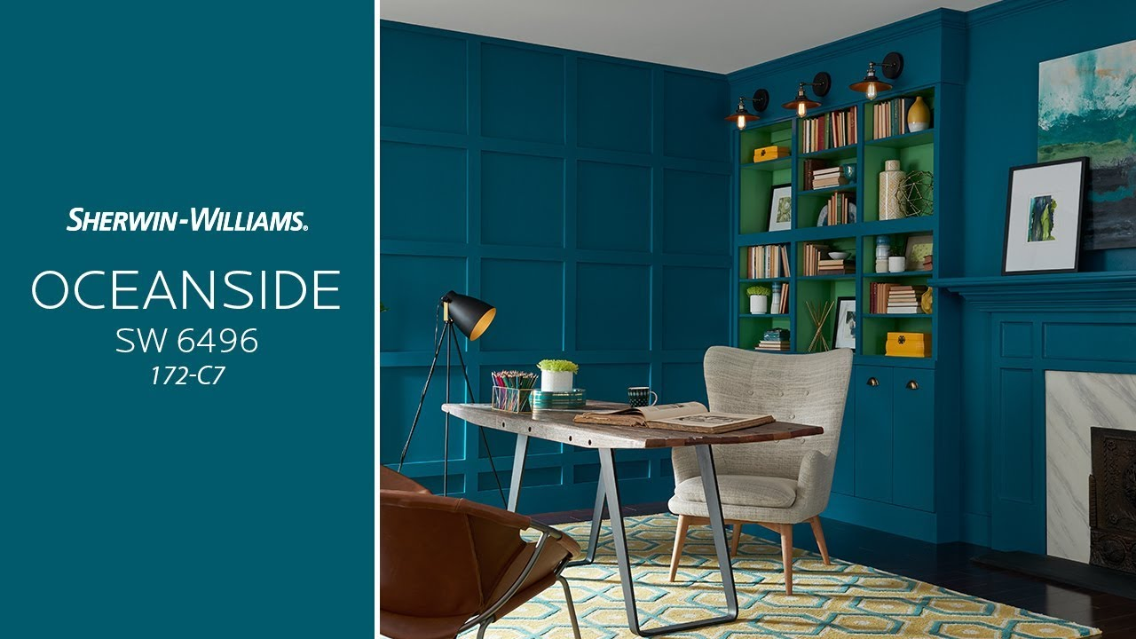 Sherwin Williams Color of the Year 2018 Oceanside SW 6496 172-C7 - perfect teal paint color