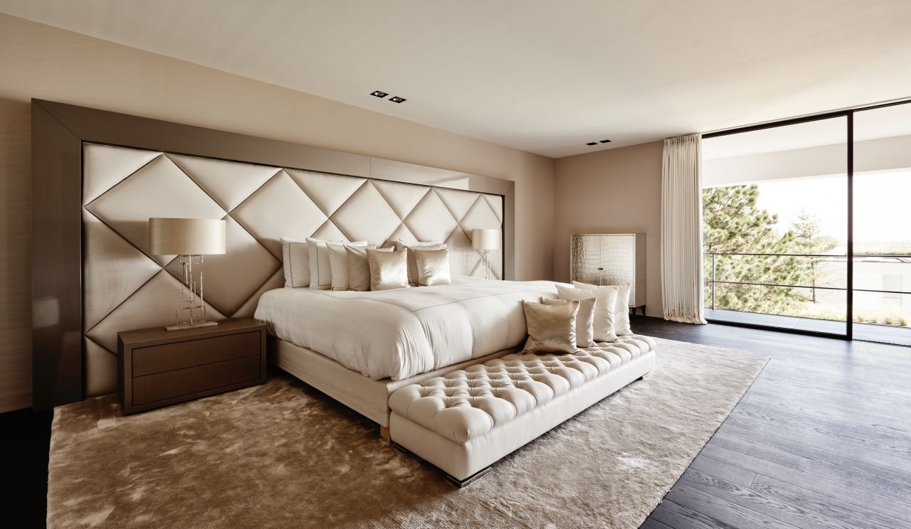 The Netherlands Lakeside-Villa 2015 - Eric Kuster - Top Interior Designers - Metropolitan Luxury - luxury beds - upholstered headboards - luxury bedrooms - glamorous bedrooms - bedroom designs