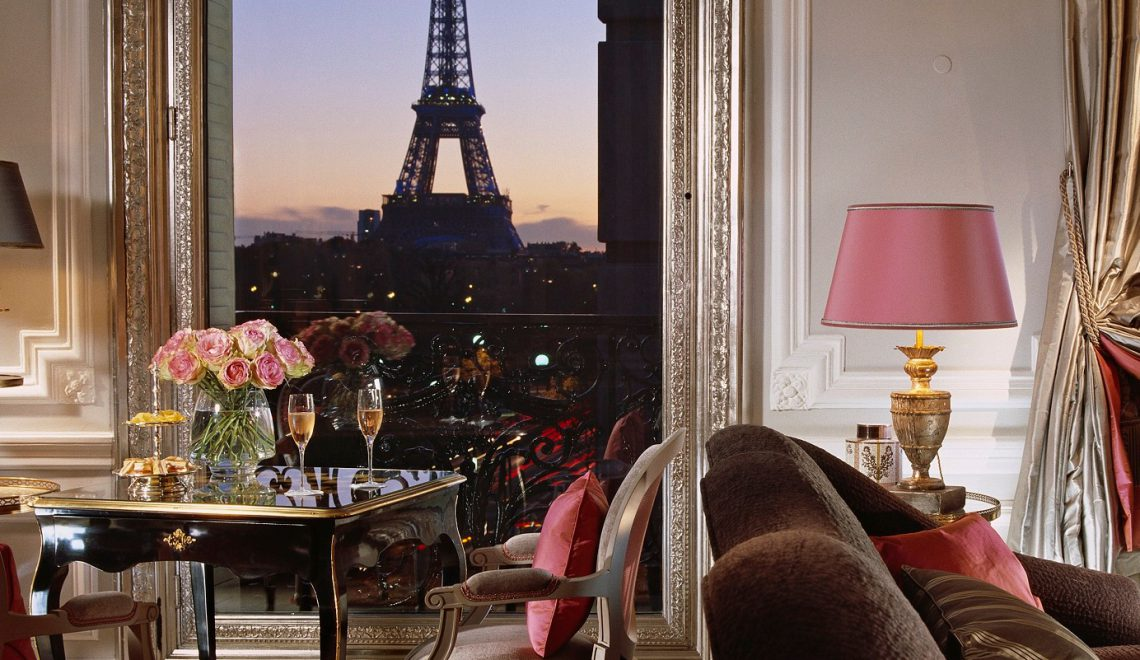 most luxurious cities in the world - Eiffel Suite Hotel Plaza Athenee Paris - hotels with view of the eiffel tower